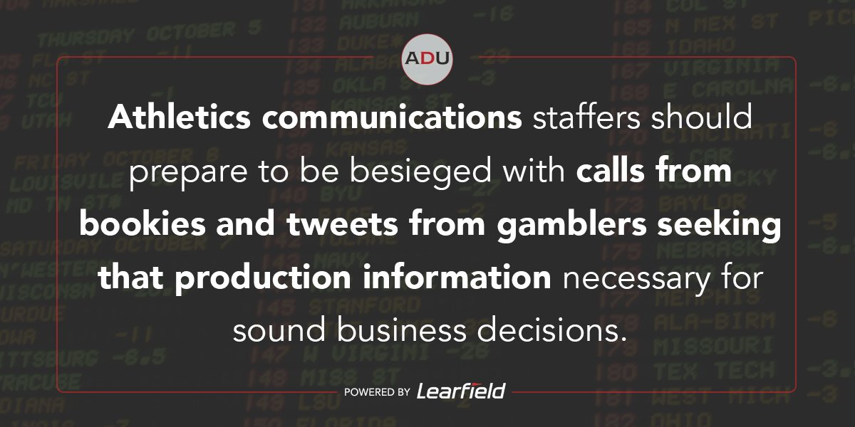 (Read) Why Communications Staffs May Be Significantly Impacted By Sports Gambling