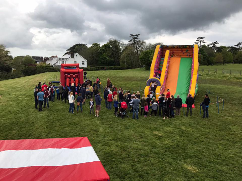 Inflatable Slide & Assault Course at an event earlier this month.