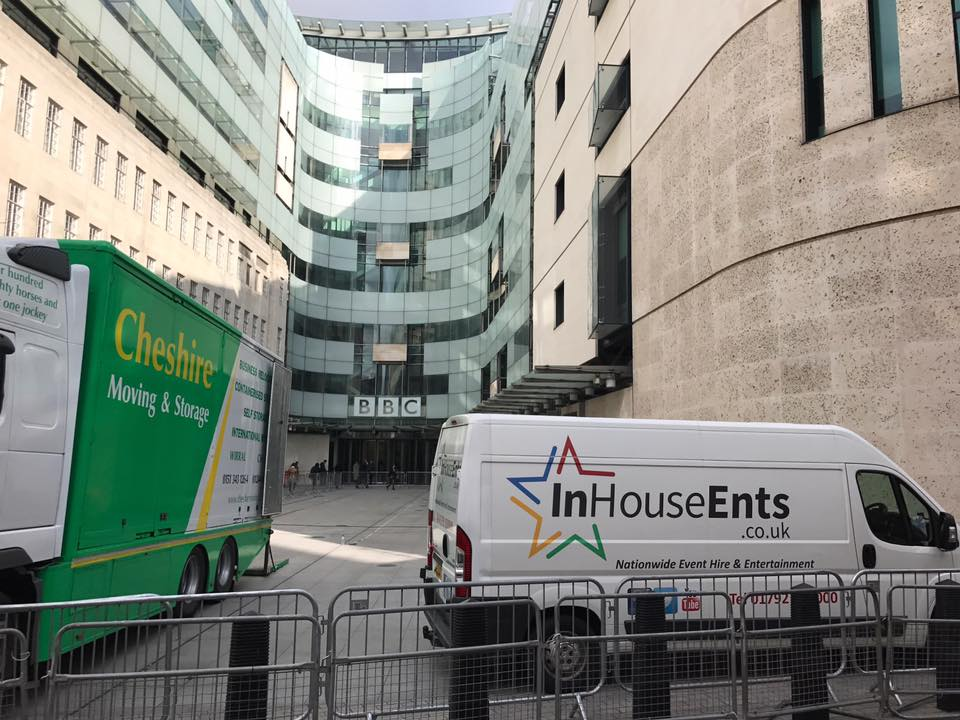 InHouse Ents at the BBC before filming for The One Show!