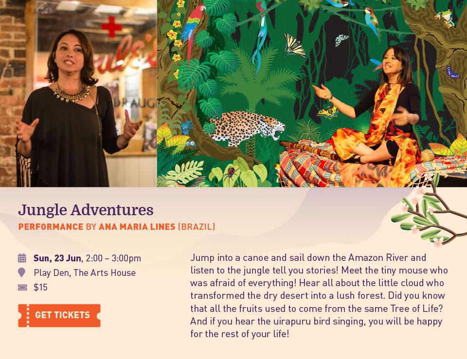 Jungle Adventure. Performance By Ana Maria Lines (Brazil)