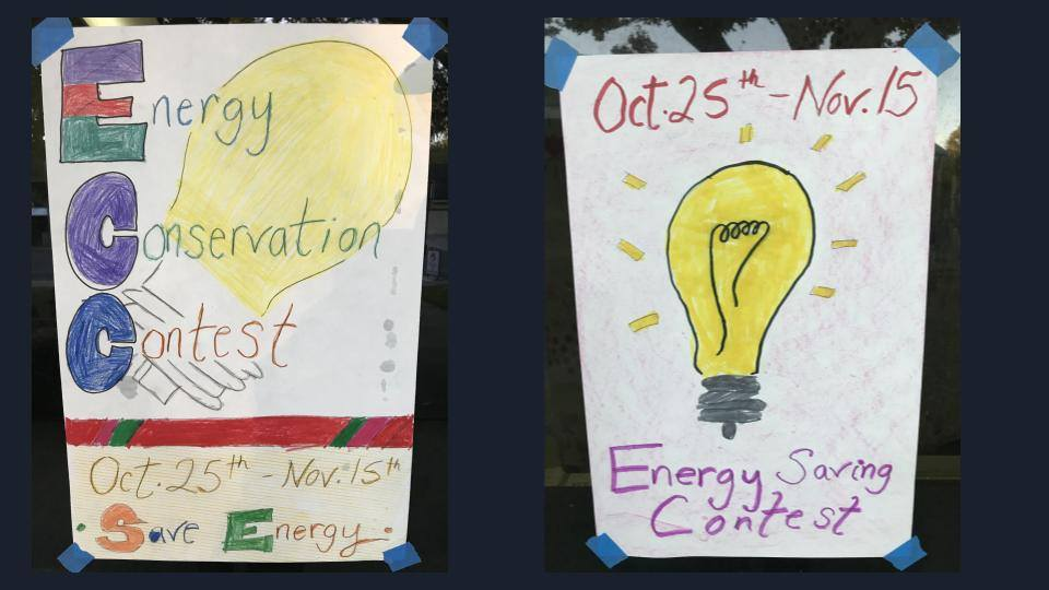 Photo of Energy Conservation Contest Posters