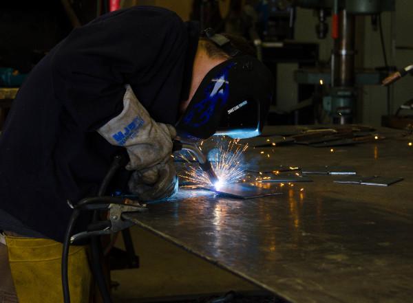 Photo of welding student