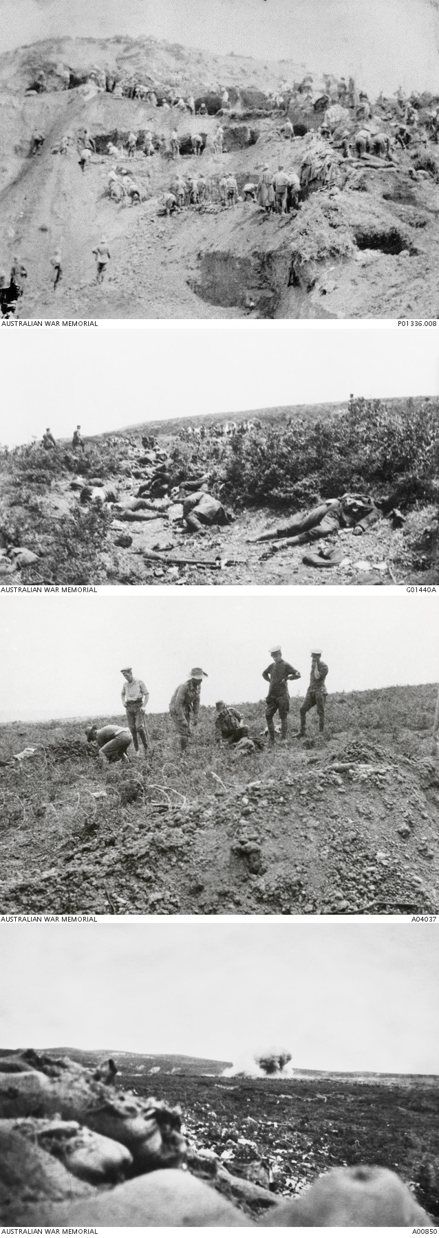 Scenes from different battles during the August Offensive