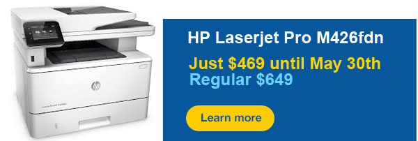 HP LaserJet Pro M426fdn Just $469 until 5/2830/2017 Regular $649
