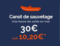 Canot de sauvetage (Une heure de sortie en mer) - 30€, soit 10,20€*