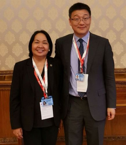 Chancellor Bandalaria with Mr. Libing Wang of the UNESCO Asia and Pacific Regional Bureau for Education, at the 7th Asia-Europe Foundation (ASEF) Rector's Conference and Students' Forum (ARC7) in Bucharest, Romania