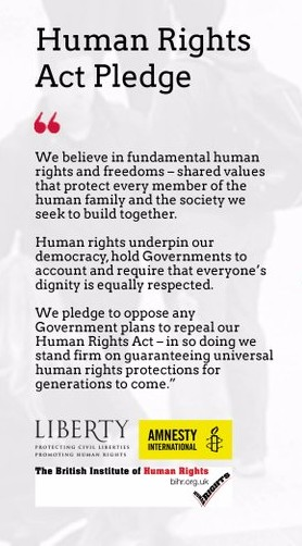 Human Rights Act pledge