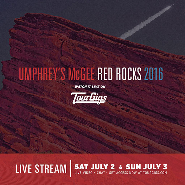 Red Rocks 2016, Watch it live on Tour Gigs