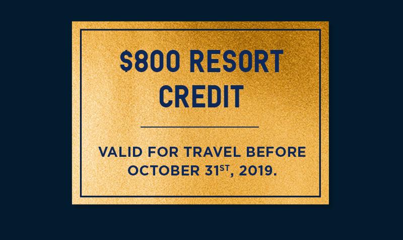 $800 Resort Credit