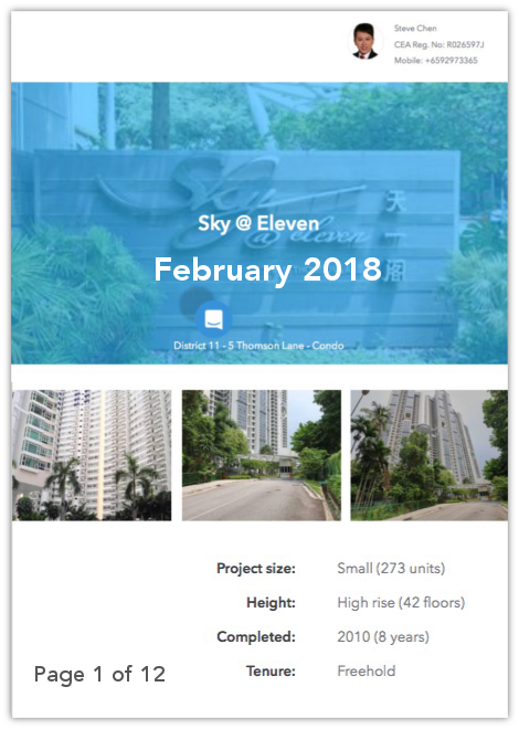 Sky@eleven Property Report from Steve Chen