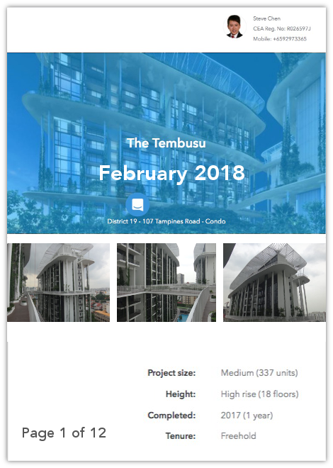 The Tembusu Property Report from Steve Chen