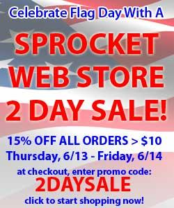 Flag Day Sale at Sprocket Web Store
