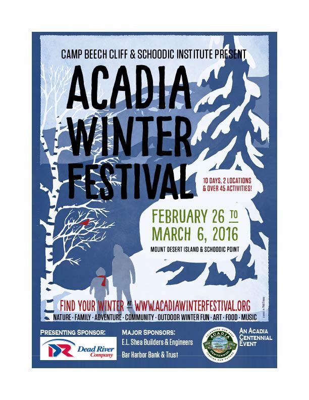 Acadia Winter Festival poster art