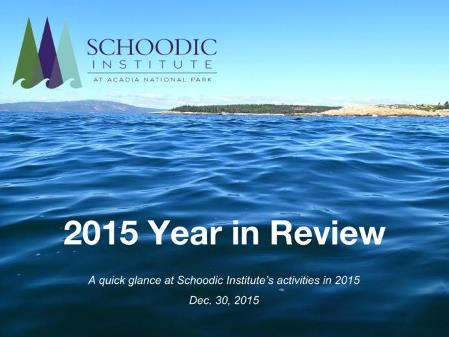 Slide show of 2015 year in review accomplishments and activities
