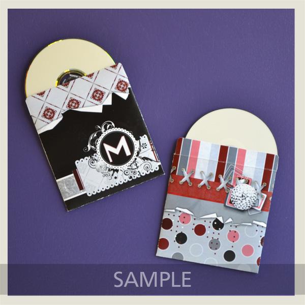 Classy Grunge CD Envelope