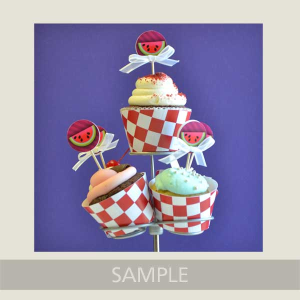 Picnic Themed Decorated Cupcakes