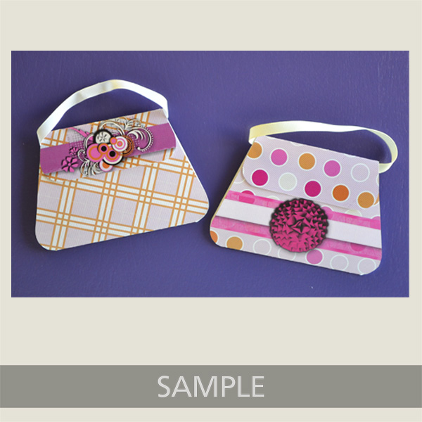 pink and purple purse cards