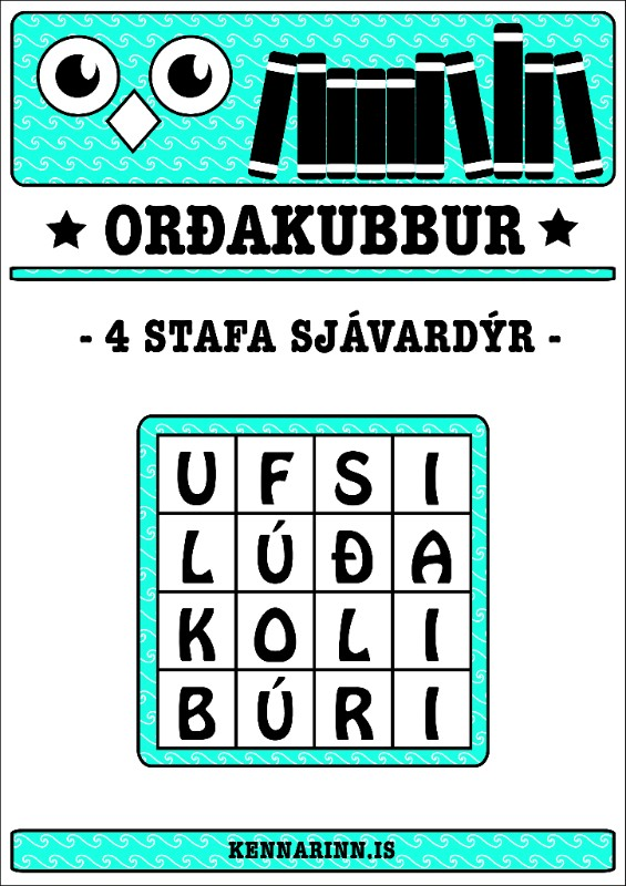 Orðakubbar, sjávardýr