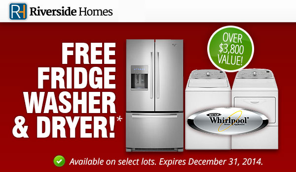 Free appliances promo