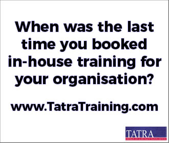 When was the last time you booked in-house training for your organisation? | www.TatraTraining.com | TATRA
