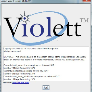 vIOLett™ software initial loading screen