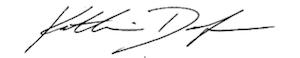 Kathy Dodge signature