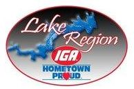 Lake Region IGA logo.
