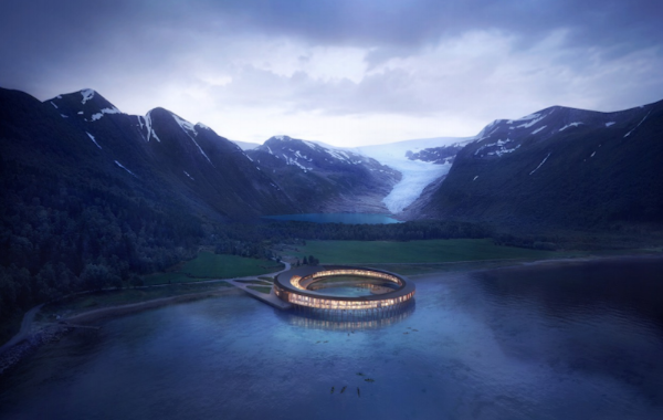 Circular hotel will be world's first energy positive hotel concept above the Arctic Circle