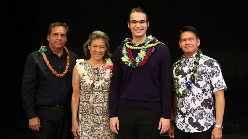 Group photo at Poetry Out Loud Hawai`i State Finals