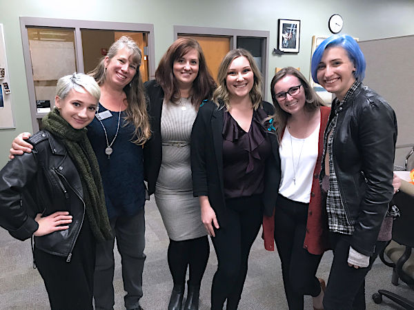 From left to right: Morgan McCaul, Lisa Thomas, Jackie Jorgensen (NMC counselor) Emmy Hendry (intern), Amanda Van Oordt (intern) and Amanda Thomashow
