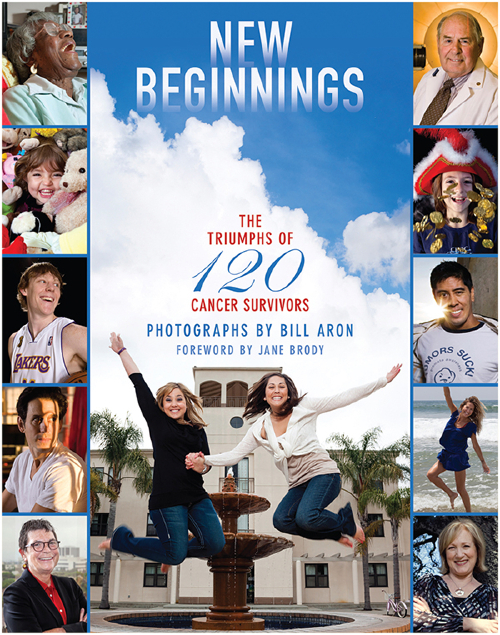 "See the book cover and buy ""New Beginnings: The Triumphs of 120 Cancer Survivors"""