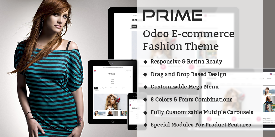 Theme Prime8 Odoo v8 Ecommerce for Fashion Store