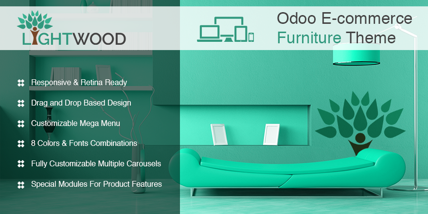 Theme Lightwood Odoo v9 Ecommerce for Furniture Store