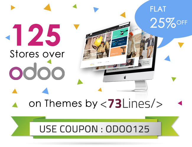 73Lines Shop - Get 25% off on All Odoo Themes