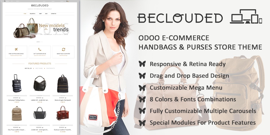 Theme BeClouded Odoo v9 Ecommerce for Accessories Store