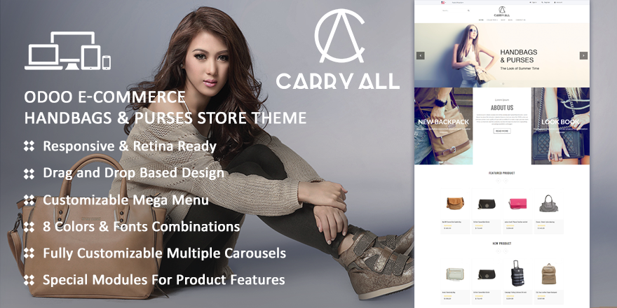 Theme CarryAll8 Odoo v8 Ecommerce for Accssories Store