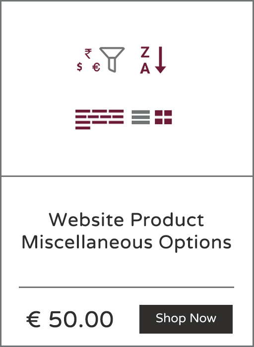 Website Product Miscellaneous Options