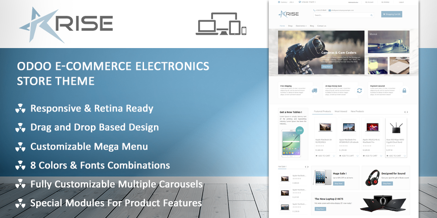 Theme Rise Odoo v9 Ecommerce for Fashion Store