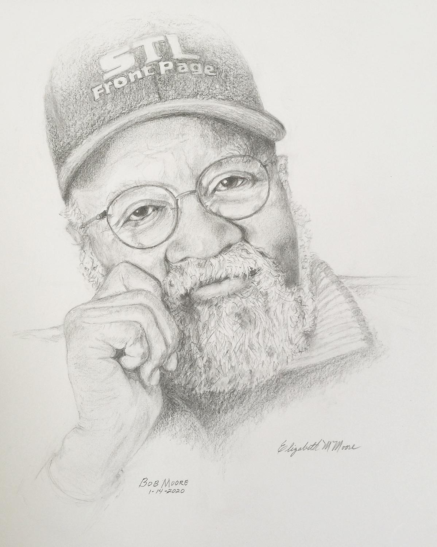 Portrait of Bob Moore by Elizabeth Moore