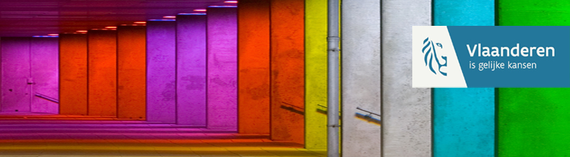 Banner met gekleurde muren
