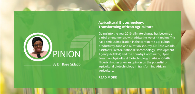 AGRICULTURAL BIOTECHNOLOGY: TRANSFORMING AFRICAN AGRICULTURE