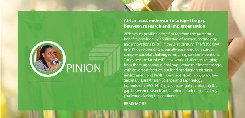 AFRICA MUST ENDEAVOR TO BRIDGE THE GAP BETWEEN RESEARCH AND IMPLEMENTATION