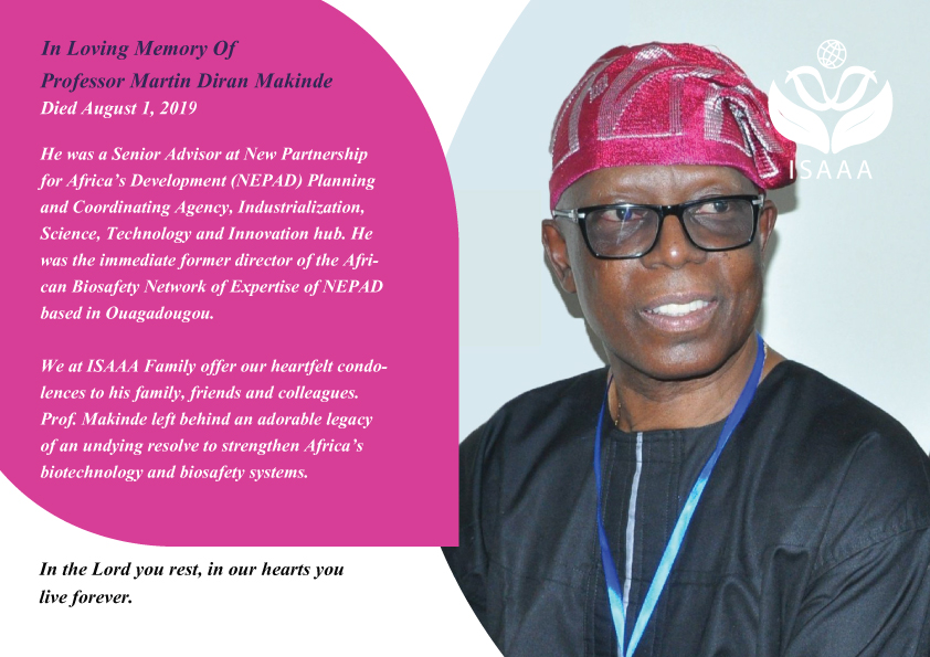 In Loving Memory OF Professor Martin Diran Makinde