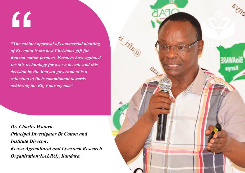 Dr. Charles Waturu, Principal Investigator and Institute Director, Kenya Agricultural Livestock Research (KALRO), Kandara.