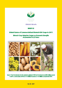 Brief 53: Global Status of Commercialized Biotech/GM Crops: 2017