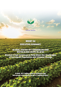 ISAAA Brief 54: Global Status of Commercialized Biotech/GM Crops in 2018