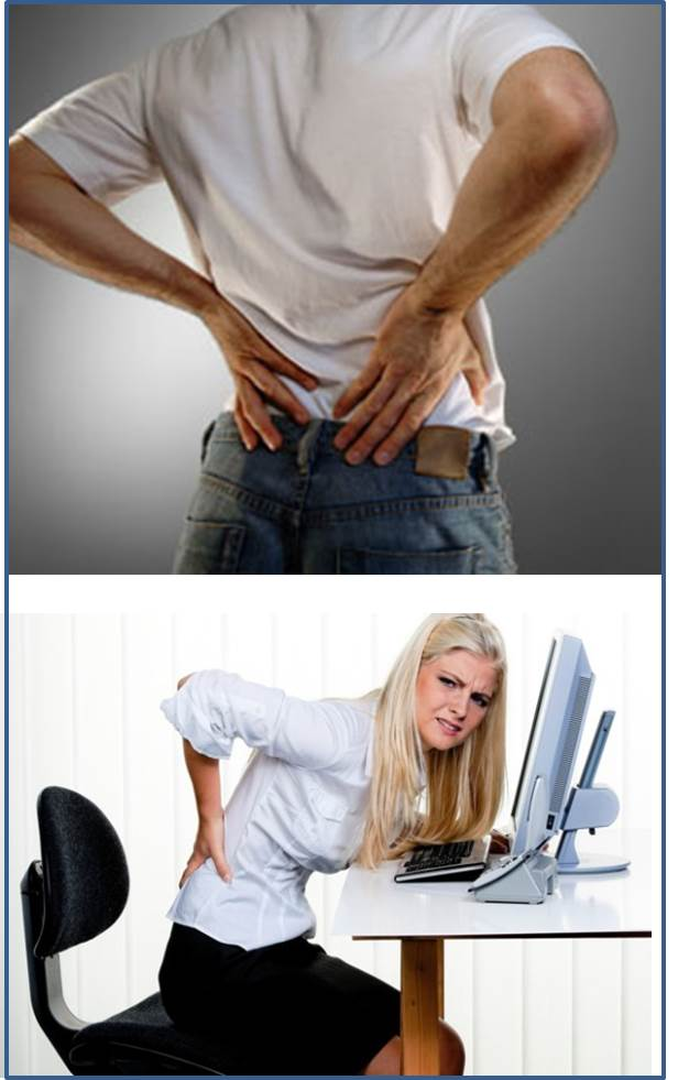man / woman with back ache