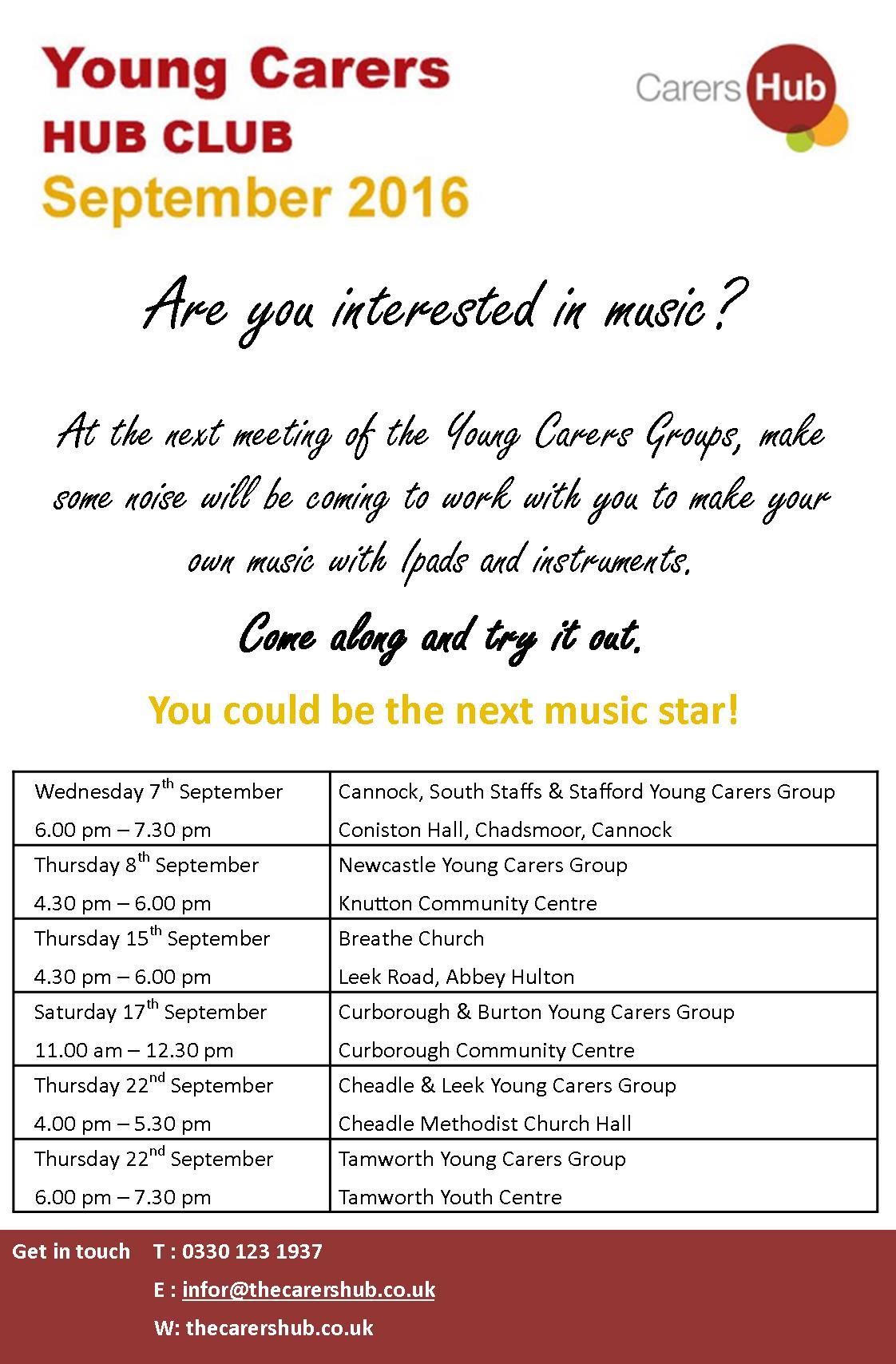 Young Carers Hub Club