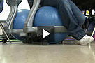 Yoga-ball chairs