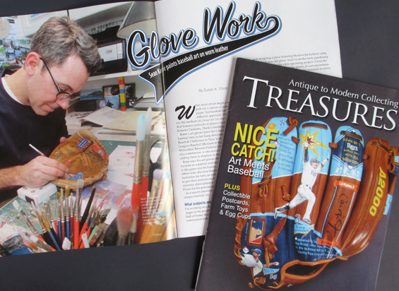 Painted Gloves in Treasures Magazine